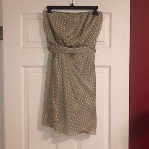 Express taupe polka dot cocktail dress size 8